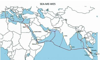 SEA-ME-WE route map