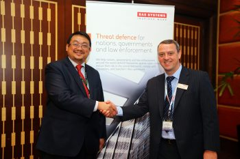 (L-R) CyberSecurity Malaysia CEO, Dr. Amirudin Bin Abdul Wahab and BAE Systems Applied Intelligence's Malaysia Country Manager Barry Johnson