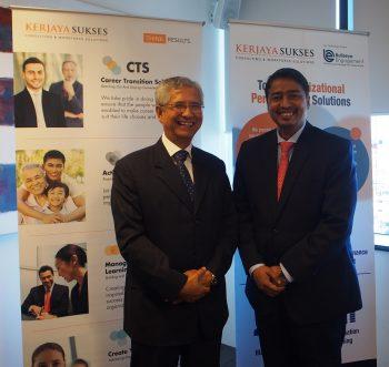 Tan Sri Datuk Seri Azizan Ariffin, Chairman, Kerjaya Sukses Sdn. Bhd. (left) and  Anthony Raja Devadoss, Managing Director of BTI Consultants (right).