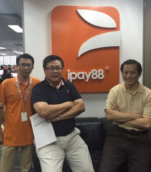 (from left to right) Business Development Director and Co-Founder iPay88 Sdn. Bhd. Chong Lee Kean, Executive Directors and Co-Founders Chan Kok Long and Lim Kok Hing