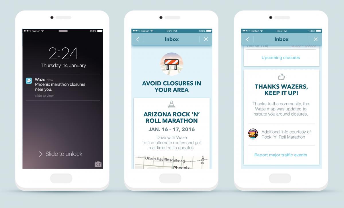 Waze Global Event Partner Program - All Screens