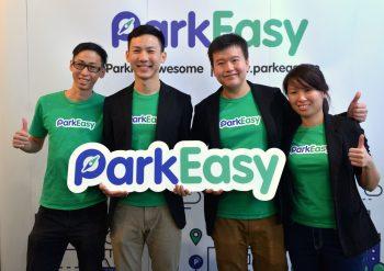 L -R: ParkEasy directors Yong Shung Jiu, Warren Chan (CEO), Eric Tan (CTO) & Winnie Mah