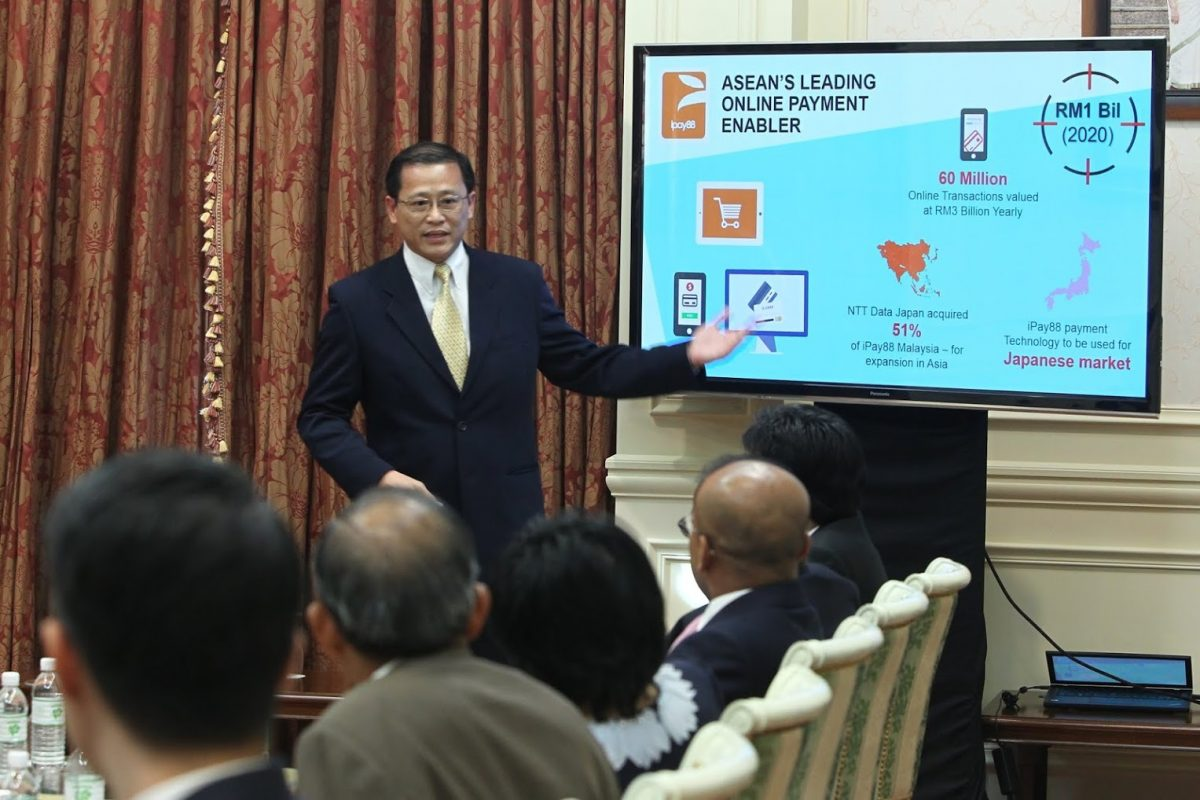 KH Lim, Executive Director of iPay88 presenting at the recent 28th MSC Malaysia Implementation Council Meeting (ICM)
