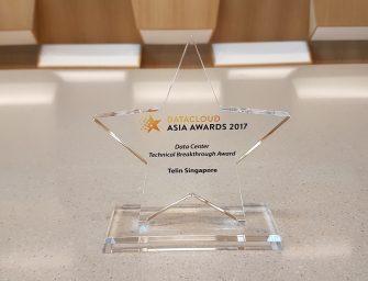 Telin Singapore Clinches the Inaugural Data Centre Technical Breakthrough Award at DatacloudAsia Awards 2017