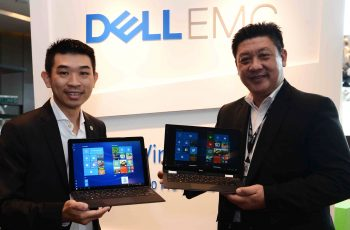 L-R: Christopher Choong, Field Marketing Manager, Client Solutions Group, Dell Malaysia and KT Ong, Country Manager - Commercial, Malaysia, Dell EMC