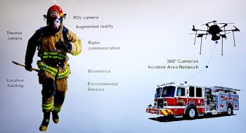 A connected firefighter