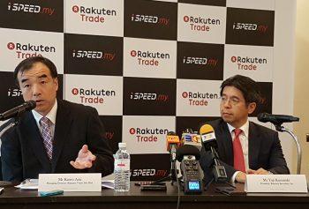 L-R: Kaoru Arai, Managing Director, Rakuten Trade and Yuji Kusunoki, President of Rakuten Securities elaborating on iSPEED.my