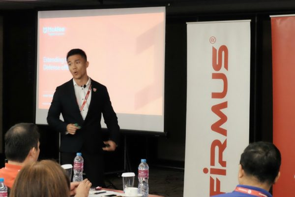 McAfee's Jason Siew during Firmus' event in early August.