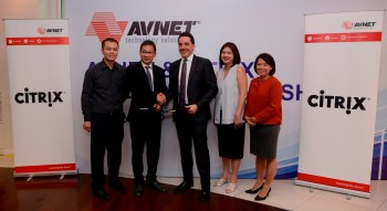 C.K.  Hau ,  Product  Manager,  Avnet  Technology  Solutions  Malaysia ;  Chiew  Yue  Lam ,  Country  General  Manager,  Avnet  Technology  Solutions  Malaysia ,  Mark  Micallef ,  Regional  Vice  President,  Citrix Asia ;  Jamie  Lim ,  ASEAN  Channel  Director,  Citrix  Asia   and Wendy Kho, Country Manager, Citrix Malaysia
