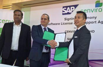 L-R: Pankaj Rathi (ED, Southeast Asia, Deloitte Consulting), Khalid Bahsoon (MD, Cenviro Sdn Bhd) & Terrence Yong (MD, SAP Malaysia)