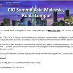CIO Summit Asia 2018 comes to Malaysia